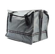 Discountershop Dubbele Fietstas waterdicht met reflecterende strepen voor extra veiligheid- Fietstas Grijs
