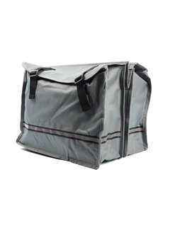 Discountershop Double Pannier waterproof with reflective stripes for extra safety - Pannier Gray
