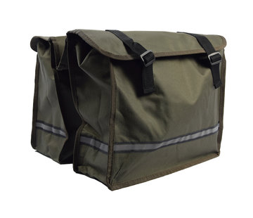 Discountershop Double Pannier waterproof with reflective stripes for extra safety - Pannier Green 36x30x12cm