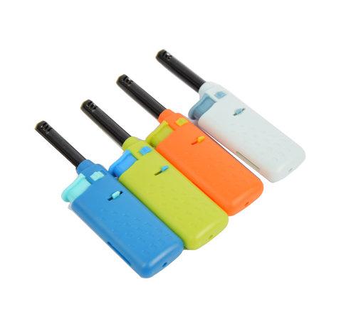Discountershop electrische keuken aansteker -Mini aansteker 4 stuks - Blauw - Licht blauw - groen - oranje