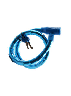 Discountershop Kinder fietsslot - fietsslot Inclusief 2 sleutels - Fietsslot blauw Slangslot 1.8 CM x 80 CM