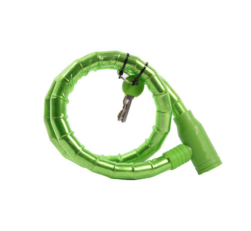 Discountershop fietsslot Inclusief 2 sleutels - Fietsslot Groen Slangslot 1.8 CM x 80 CM