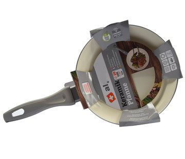 Discountershop Frying pan - Ø 20 cm - Luxury frying pan of 20 cm Non-stick coating - Gray