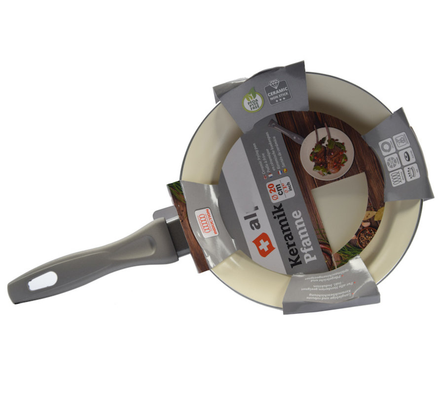 Frying pan - Ø 20 cm - Luxury frying pan of 20 cm Non-stick coating - Gray