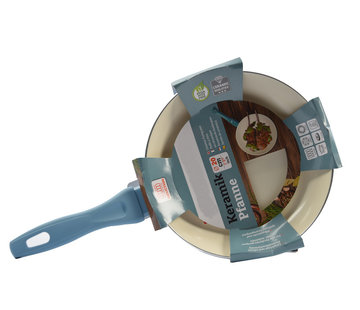 Discountershop Luxury frying pan of 20 cm Non-stick coating - Light blue