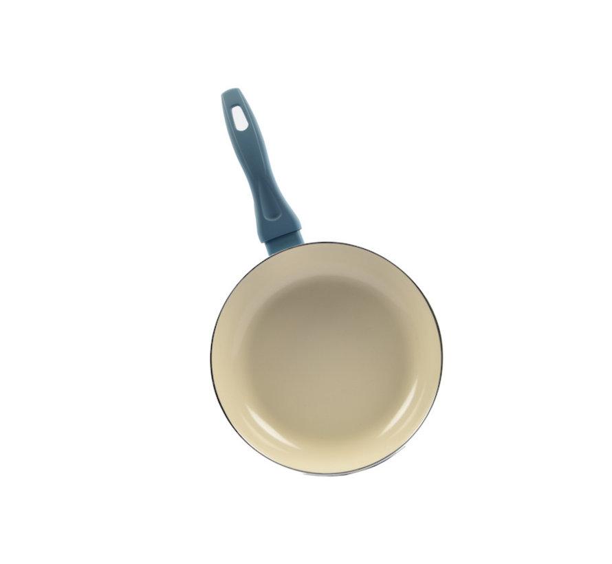 Koekenpan - Ø 24 cm - Luxe koekenpan van 24cm Anti-aanbaklaag - Licht blauw