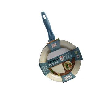 Discountershop Frying pan - Ø 24 cm - Luxury frying pan of 24 cm Non-stick coating - Light blue