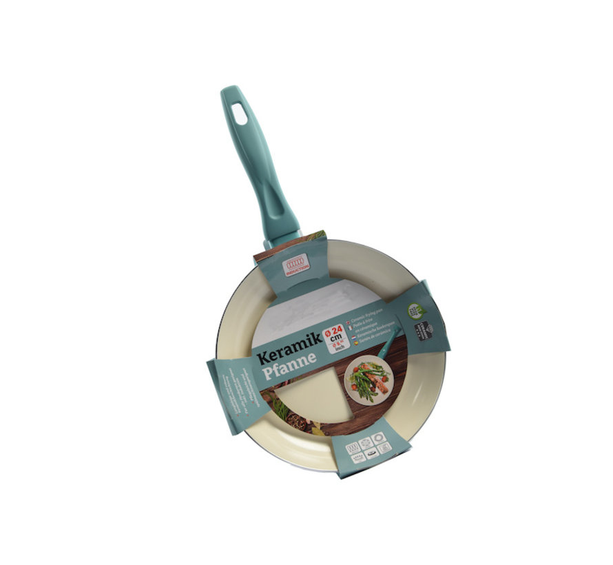 Frying pan - Ø 24 cm - Luxury frying pan of 24 cm Non-stick coating - turquoise