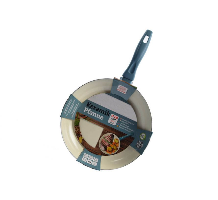 Frying pan - Ø 28cm - Luxury frying pan of 28cm Non-stick coating - light blue