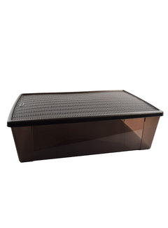 Discountershop Storage box - underbed box - Underbed box 32 liters chocolate brown - 59 cm x 39 cm x17 cm high