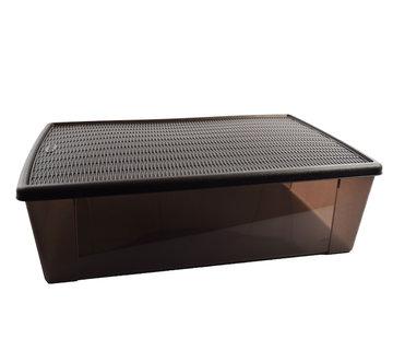Discountershop Opbergbox - onderbedbox - Onderbedbox 32 liter chocolate bruin- 59 cm x 39 cm x17 cm hoog