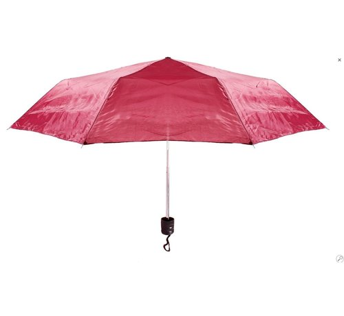 Merkloos Automatic paraplu - Stevig paraplu met diameter van 92 cm - Rood