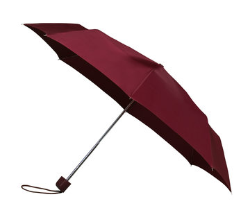 Discountershop Foldable - manual opening umbrella - Sturdy umbrella with a diameter of 100 cm - Dark red