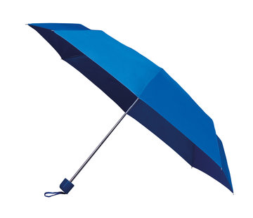 Discountershop Foldable - manual opening umbrella - Sturdy umbrella with a diameter of 100 cm - light blue