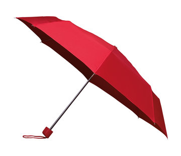Discountershop Foldable umbrella - manual opening umbrella - Sturdy umbrella with a diameter of 100 cm - Red