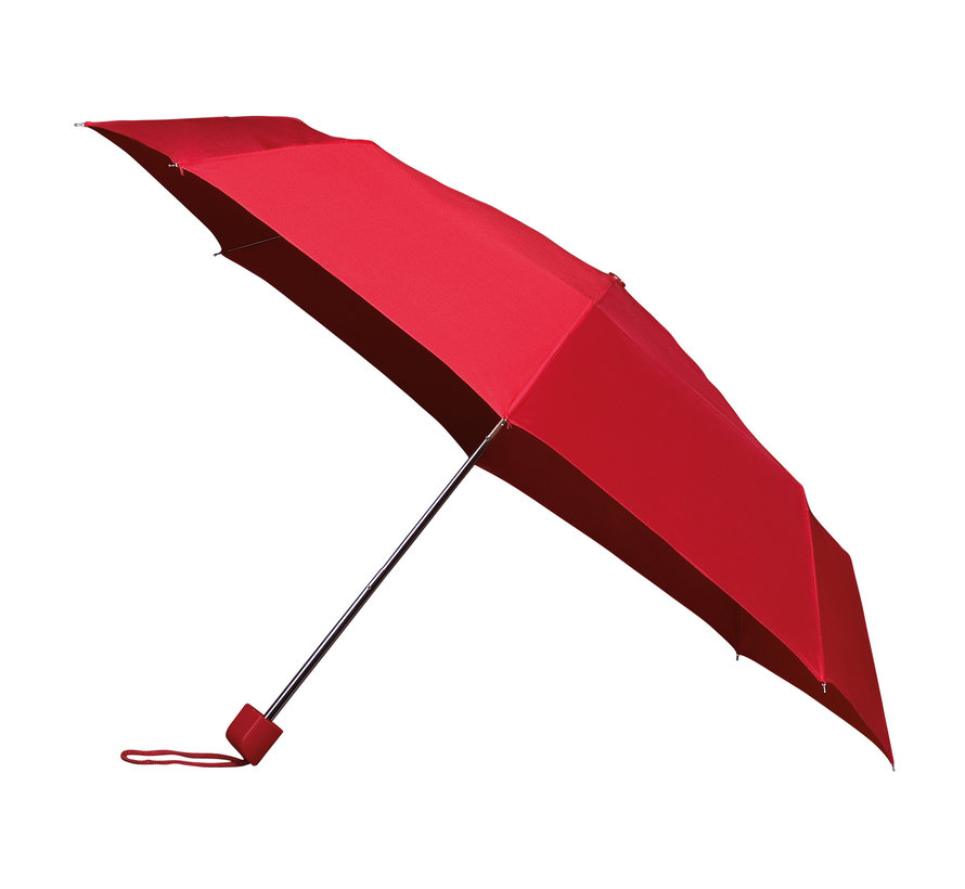 Foldable umbrella - manual opening umbrella - Sturdy umbrella with a diameter of 100 cm - Red