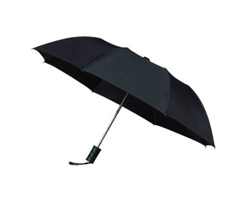 Merkloos Opvouwbare paraplu, automaat, 2-delig metalen stok en frame - Paraplu
