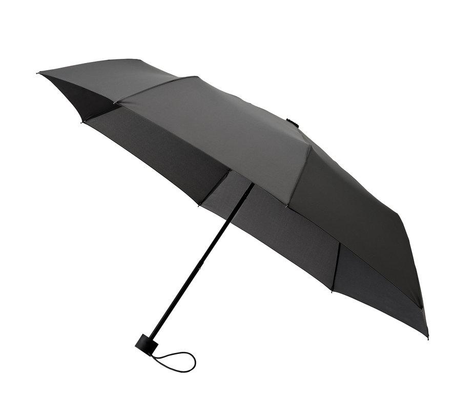 Opvouwbare paraplu, Stevig en Windproof - 2-delig metalen stok en frame - rubber handvat Grijs