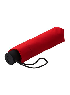 Discountershop Foldable umbrella, Sturdy and Windproof - 2-part metal pole and frame - Red rubber handle
