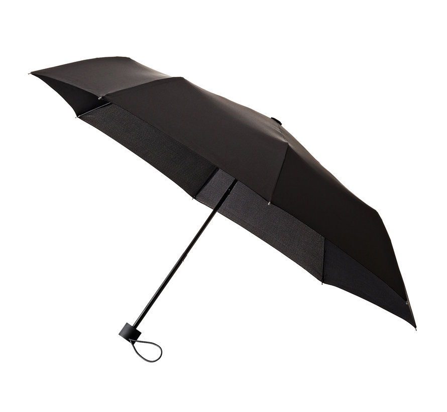 Foldable umbrella, Sturdy and Windproof - 2-part metal pole and frame - Black rubber handle