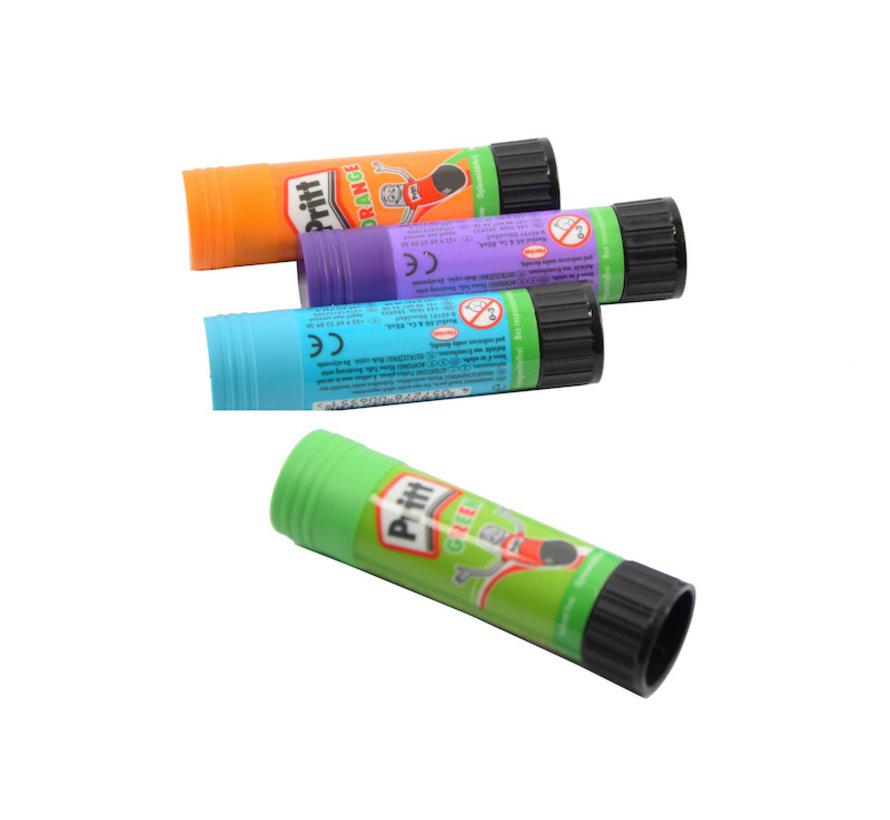 Pritt gekleurde lijmstick - lijmstift - lijmstiften - 4X