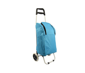 Discountershop Shopping trolley cool bag red 25 liters - Cool bag trolley 92 x 34.5 x 29 cm \ blue