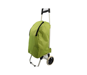 Discountershop Shopping trolley cool bag red 25 liters - Cool bag trolley 92 x 34.5 x 29 cm \ green