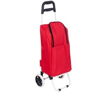 Discountershop Shopping trolley cool bag red 25 liters - Cool bag trolley 92 x 34.5 x 29 cm \ red
