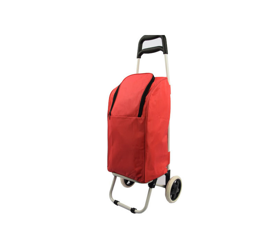 Shopping trolley cool bag red 25 liters - Cool bag trolley 92 x 34.5 x 29 cm \ red