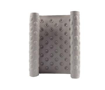 Discountershop Rubber shower mat - Anti-slip mat FOR BATH, SHOWER AND BATHROOM 37 cm x 82 cm Beige