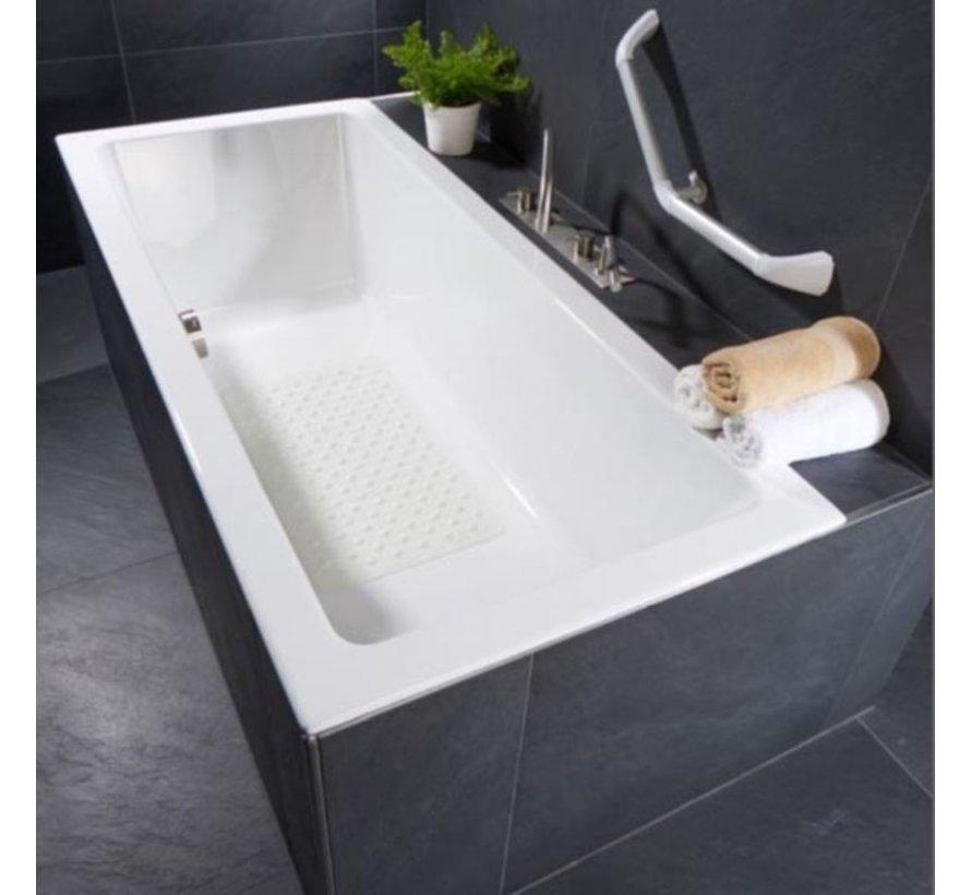 Rubber shower mat - Anti-slip mat FOR BATH, SHOWER AND BATHROOM 37 cm x 82 cm Beige