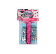 Discountershop Skipping rope Minnie Mouse - Disney junior - Blue handles with Pink rope