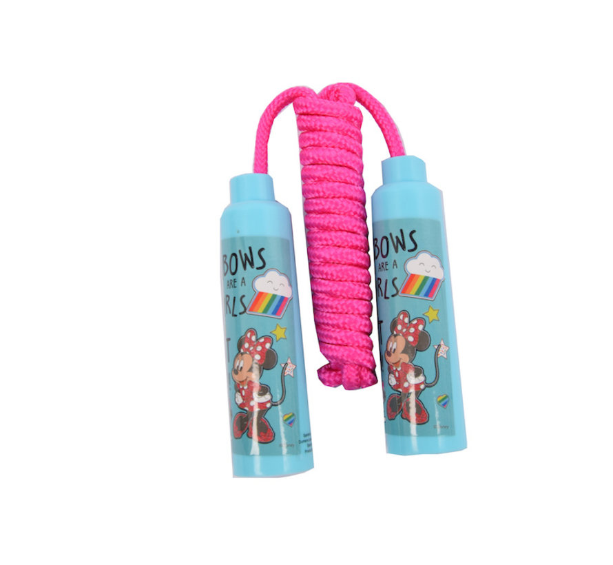 Skipping rope Minnie Mouse - Disney junior - Blue handles with Pink rope