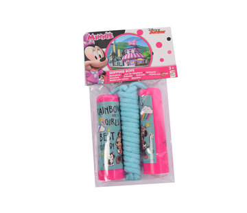 Discountershop Skipping rope Minnie Mouse - Disney junior - Pink handles with blue rope