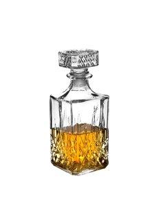 Discountershop Whiskey Karaf - 1 litre - Glas