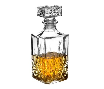 Merkloos Whiskey Karaf - 1 litre - Glas - Karaf 1 L - Wijn - Whiskey Karaf - Luxe Whiskey
