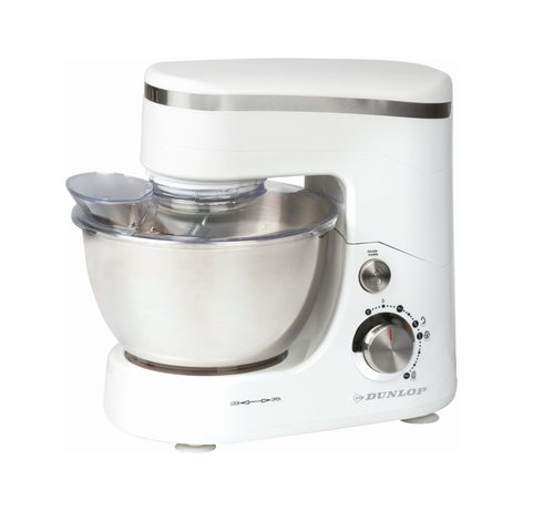 Discountershop Food processor - 5 liters - Stainless steel bowl - 800 watt - Witzilver - with beater, whisk and dough hook