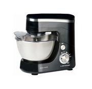 Dunlop Food processor - 5 liters - stainless steel bowl - 800 watts - black - with beater, whisk and dough hook