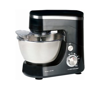 Discountershop Food processor - 5 liters - stainless steel bowl - 800 watts - black - with beater, whisk and dough hook