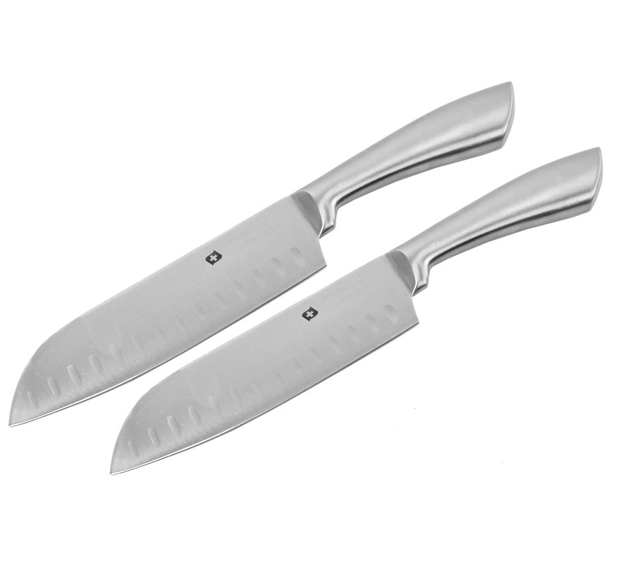 Santoku knife - Stainless steel knife 31.5 cm - 2 pieces