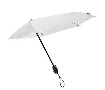 STORMini Stormparaplu Antistorm paraplu  -  STORMini Aerodynamische opvouwbare stormparaplu Wit - Paraplu met hoes