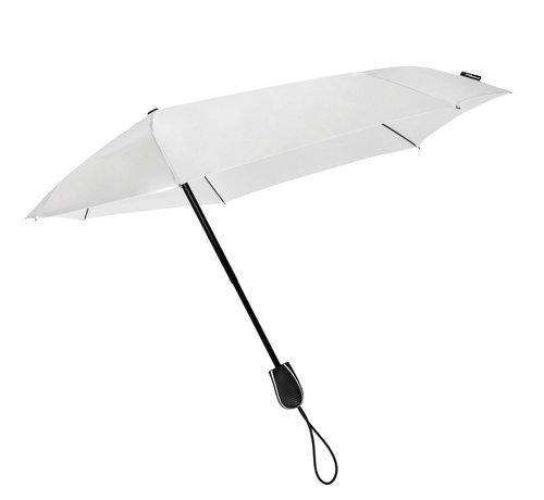 Discountershop Stormparaplu - Antistorm paraplu  - Stormparaplu - STORMini Aerodynamische opvouwbare stormparaplu Wit - handopening