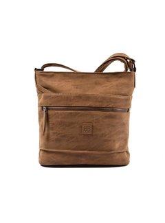 Bicky Bernard Bicky Bernard Surround Shoulder Bag Taupe Zipper Pockets Trendy Bag - Camel  - Cognac
