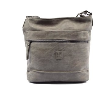 Bicky Bernard Bicky Bernard Surround Shoulder Bag Taupe Zipper Pockets Trendy Bag - Grey