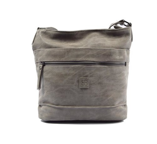 Bicky Bernard Bicky Bernard Surround Shoulder Bag Taupe Zipper Pockets Trendy Bag - Grey