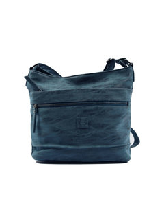 Bicky Bernard Bicky Bernard Surround Shoulder Bag Taupe Zipper Pockets Trendy Bag - Blue - Dark blue