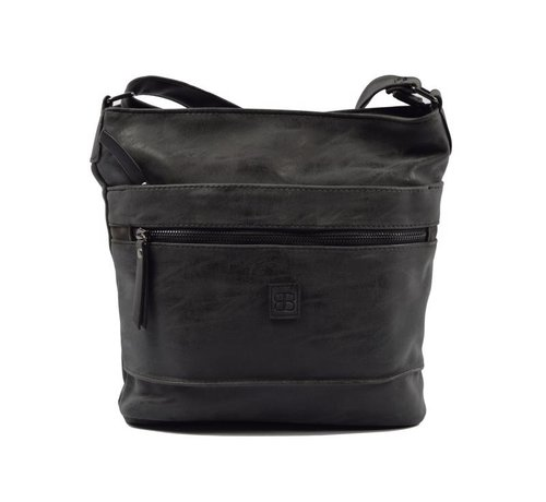 Bicky Bernard Bicky Bernard Surround Shoulder Bag Taupe Zipper Pockets Trendy Bag - black