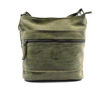 Bicky Bernard Bicky Bernard Surround Shoulder Bag Taupe Zipper Pockets Trendy Bag - Green - Olive