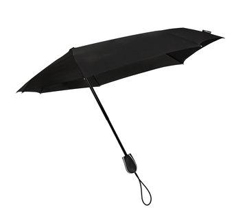 STORMini Stormparaplu met Automatisch openings- en sluitingsmechanisme - Antistorm paraplu  -Stormparaplu - STORMini Aerodynamische opvouwbare stormparaplu Zwart - handopening