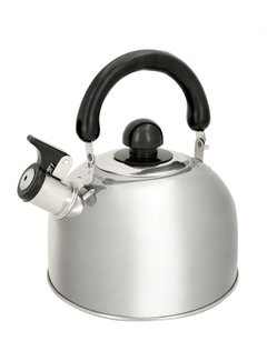 Discountershop stainless steel kettle 1.8 liter - Kettle 1.8 19x19x15cm - whistling kettle